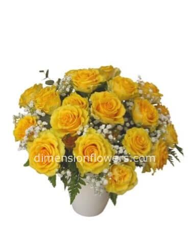 Fiori Gialli Roma.Bouquet Di Rose Gialle Fiori A Roma Fiorista A Roma Vende